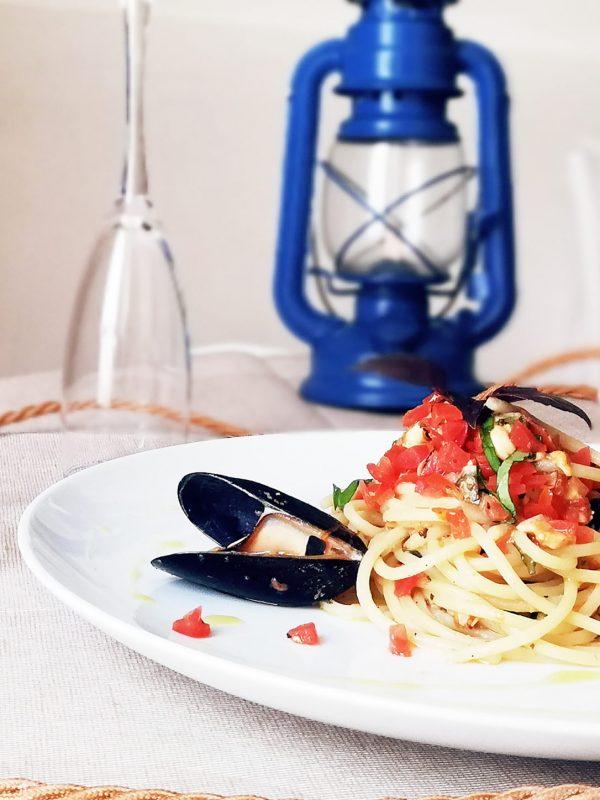 Spaghetti Cozze Locanda degli angeli